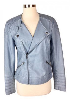 Lovers + Friends Blue Leather Jackets