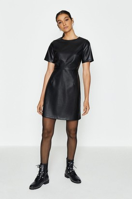 Coast Pu Cap Sleeve Shift Dress