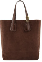 Tom Ford Men's Suede Tote Bag, Chocolate