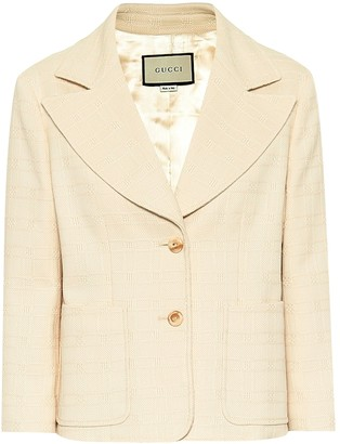 Gucci Checked cotton and wool blazer