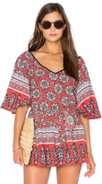 Band of Gypsies Short Sleeve V Neck Blouse