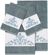 Linum Home Textiles 4-piece Scarlet Embellished Bath Towel Set