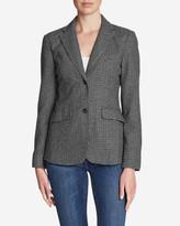 Eddie Bauer Women's Classic Wool-Blend Blazer - Pattern