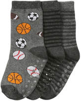 Joe Fresh Toddler Boys' 3 Pack Fashion Socks, Grey (Size 3-5)