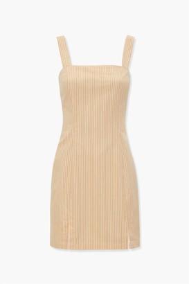 Forever 21 Pinstriped M-Slit Dress