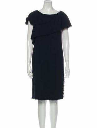 Chanel 2006 Knee-Length Dress Blue