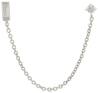 Roxanne First 14kt white gold Laura double earring