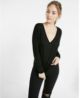 Express one eleven deep v-neck long sleeve tee