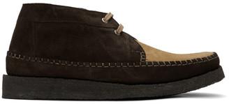 Comme des Garçons Homme Deux Brown Padmore and Barnes Edition Willow Boots