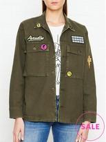 A Gold E AGOLDE Stella Patch Army Shirt Jacket