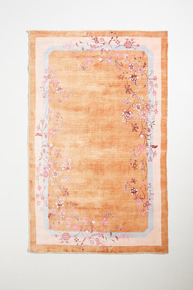 Anthropologie Alana Handwoven Viscose Rug By in Orange Size 5X8