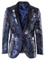 Paisley and Gray Floral Jacquard Blazer