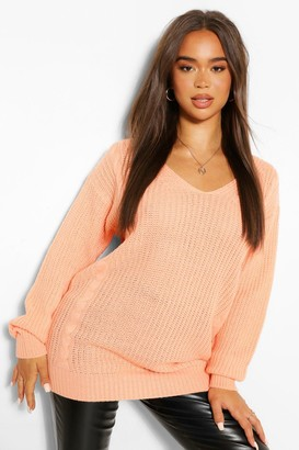 boohoo Oversized Cable Knit Sweater
