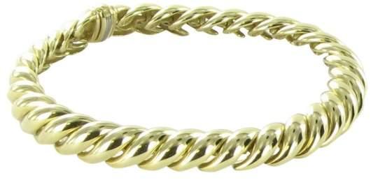 David Yurman 18K Yellow Gold Hampton Cable Bracelet