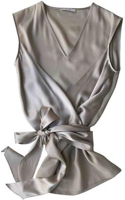 Celine Grey Silk Top for Women