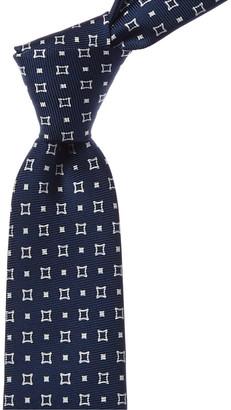 Kiton Navy Silk Tie