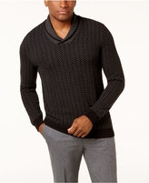 Tasso Elba Men's Textured Shawl-Collar Sweater, Created for Macy's