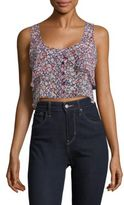 BCBGMAXAZRIA Cropped Overlay Top
