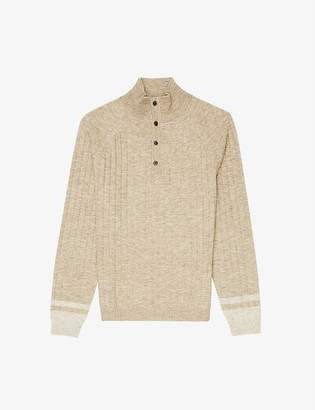 Reiss Aiden ribbed funnel-neck jumper