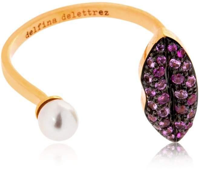 Delfina Delettrez Lips & Pearl Ring