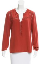 Veronica Beard Silk Long Sleeve Blouse