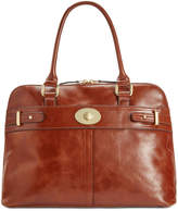 Giani Bernini Glazed Turnlock Dome Satchel, Created for Macy's