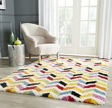 Safavieh Kids Shag Collection SGK565A Ivory and Multi Area Rug, 3 feet by 5 feet (3' x 5')