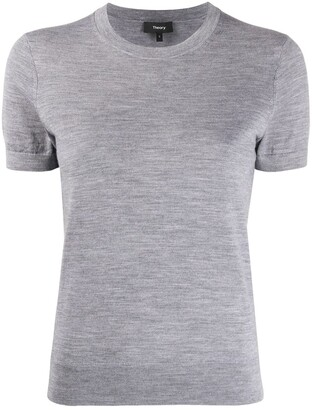 Theory short sleeve knitted top