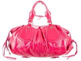 Francesco Biasia Patent Leather Handle Bag