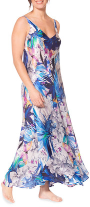 Christine Lingerie Paradise Floral Print Sleeveless Nightgown