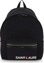 Saint Laurent City logo backpack