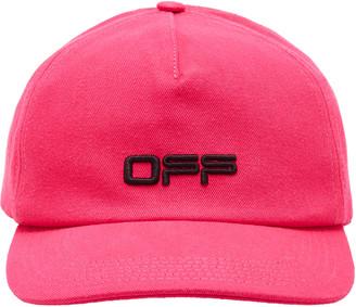 Off-White Logo Cotton Baseball Cap