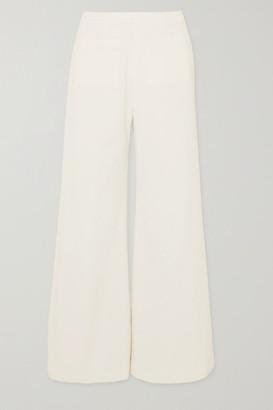 Faithfull The Brand Tove Cropped Cotton-corduroy Wide-leg Pants - White