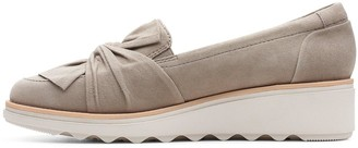 Clarks Sharon Dasher Leather Wedge Loafer - Sage
