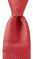 Roundtree & Yorke Trademark Enclosed Dotted Pattern Traditional Silk Tie