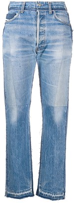 Diesel Red Tag Patchwork Straight-Leg Jeans