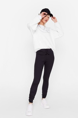 Nasty Gal Womens The High Life Petite Ruched Leggings - Black - 4, Black