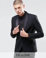 Only & Sons Skinny Tuxedo Dinner Jacket With Stretch