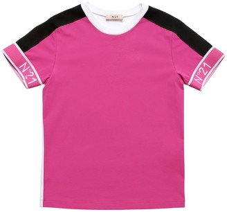 N°21 Color Block Cotton Jersey T-shirt