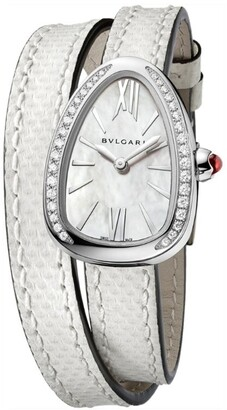 Bvlgari Mother-of-Pearl and Diamond Serpenti Watch 27mm