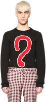 Au Jour Le Jour Question Mark Intarsia Wool Sweater