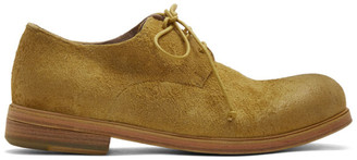 Marsèll SSENSE Exclusive Yellow Suede Zucca Media Derbys