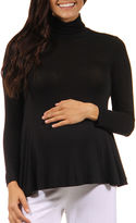 24/7 Comfort Apparel Turtleneck Pullover Sweater-Maternity