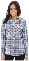 Roper 9739 Royal w/ Orange Plaid
