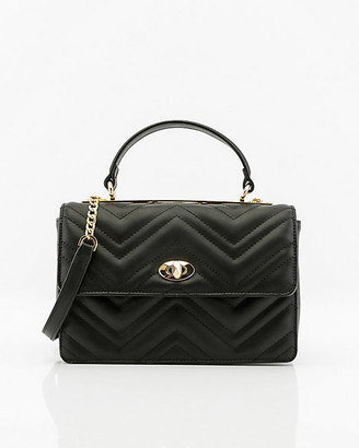 Le Château Quilted Faux Leather Bag