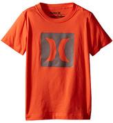 Hurley Logo Mesh Short Sleeve Tee (Little Kids)