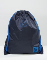 New Balance 410 Drawstring Backpack In Blue