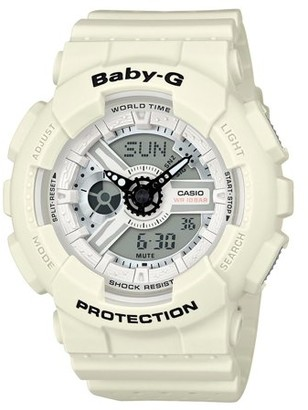 Casio Baby-G BA110PP-7A White / White Resin Analog/Digital Quartz Women's Watch