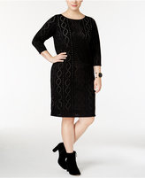 Calvin Klein Plus Size Perforated Sweater Dress