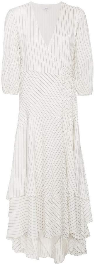 Ganni Wilkie Seersucker Wrap Dress